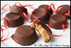 Clean Eating Peanut Butter Cups (Click Pic for Recipe) I completely swear by CLEAN eating!!  To INSANITY and back....  One Girls Journey to Fitness, Health, & Self Discovery.... http://mmorris.webs.com/