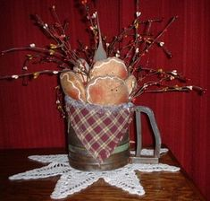 The Best Free Crafts Articles: Gingerbread Coolies Vintage Light by Denise Bailey Christmas Crafts To Make, Prim Christmas, Christmas Balls, Holiday Crafts, Christmas Decorations, Christmas Kitchen, Xmas, Gingerbread Village, Gingerbread Ornaments