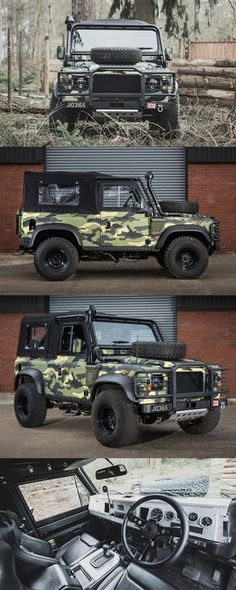 Land Rover Defender Military Edition by Tweaked Automotive Land Rover Defender, Defender 90, Hummer Truck, Jeep Truck, Ford Trucks, Hors Route, Best 4x4, Offroader, Range Rover