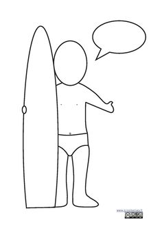 Free Printable Coloring Page: Design Your Own Surfboard
