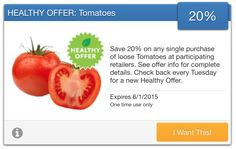 SavingStar Fresh Produce Coupon – 20% Off Tomatoes