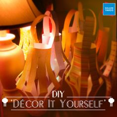 Scratch your head for some awesome DIY ideas. Make paper lanterns, candle votives from mason jars or paint your own diyas. #DiwaliDecoration