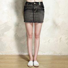 Summer Women Vintage Fitting Jean Pencil Skirt