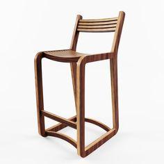 Bar Chair Degerfors VR - AR - low-poly 3D model 3D Model .max .c4d .obj .3ds .fbx .lwo .stl @3DExport.com by superslim12