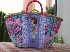 elcosturerodecarla: Capazo tamaño bolso decorada con muñeca.