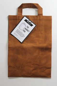 Handmade in the USA canvas grocery bag for green shoppers.