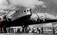1934, Tupolev ANT-20 [USSR]. The Tupolev ANT-20 Maxim Gorky was a Soviet eight-engine aircraft, the largest of the 1930s. Its wingspan was similar to that of a modern Boeing 747. from James Vaughn on flickr
