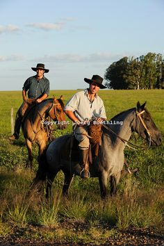 Tacuarembo Gauchos on horse at cattle farm, Uruguay