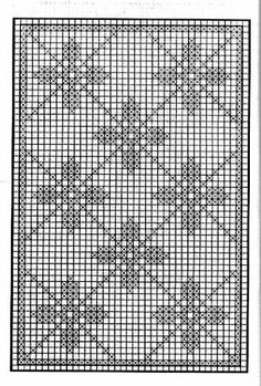 How to Crochet Wave Fan Edging Border Stitch Filet Crochet Charts, Crochet Diagram, Knitting Charts, Crochet Motif, Crochet Doilies, Crochet Patterns, Crochet Squares, Crochet Curtains, Tapestry Crochet