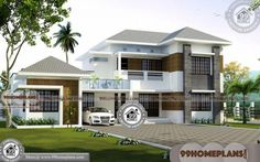 Double Storey 5 Bedroom House Plans 3d Elevations Exterior Collection In 2020 Bedroom House Plans House Plans Double Storey House Plans
