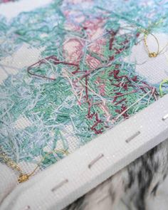 Metallic and neon threads are so much harder to stitch with but the colors are so much more satisfying than regular colors. The knots and tangles just add to the beautiful chaos on the back. Is there anyone who actually keeps the back of their embroideries neat? #finishedart #backside #beachbabe #inmystudio #newart #fineart #contemporaryartdaily #discovernewartists #originalart #contemporaryart #artstagram #artlife #contemporaryartist #visualartist #makeart #artforbreakfast #artdailydo Contemporary Art Daily, Contemporary Artists, Make Art, New Artists, Beach Babe, Knots, Original Art, Metallic, Neon