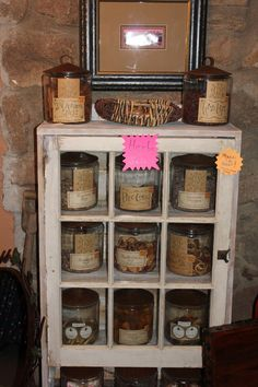 Inspiration: Shabby chic old window cabinet