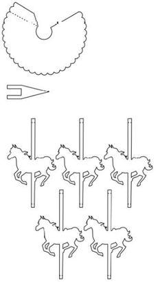 Carrossel de Papel para Montar com Molde - Espaço Infantil