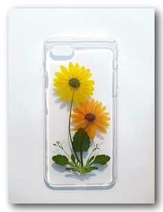 Handmade iphone 6 plus case, Resin with Real Flower,Pressed flower(32)