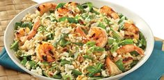 Mediterranean Rice Salad with Shrimp - perfect for al fresco dining or a light lunch.