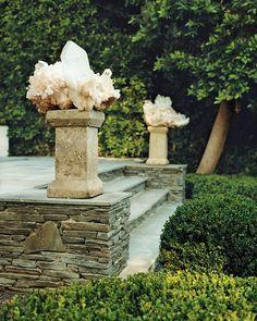 bohemianhomes:  Art Luna Garden: Crystal posts