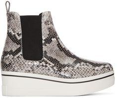 Stella McCartney - Grey Snake-Embossed Binx Boots