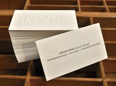 Fitness business cards orange fizz french paper letterpress blind deboss letterpress business cards designed by agatha peak and printed at pike street press colourmoves Choice Image