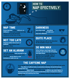 Nap plays a greater role in our daily health; it relaxes the body  reduces the daily stress from our hectic lifestyles. Many napping techniques been identified to increase the productivity  creativity. Studies have also shown that napping helps decrease the risk from heart disease. There are some napping techniques shown in this info-graph see what works for you.
