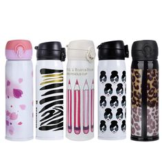 500ml Water Bottle Stainless Travel Mug Coffee Tea Vacuum insulated Thermal Cup Bottle Stainless Steel Thermos