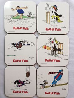 vintage 1986 footrot flats drink coasters by murray ball made in new zealand from $24.95