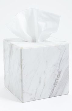 Free shipping and returns on Waterworks Studio 'Luna' White Marble Tissue Cover (Online Only) at Nordstrom.com. <b>Limited Time Savings: Save 20% on selected items for bed, bath and home, now through January 19, 2015.</b><br><br>Hide away unsightly tissue boxes beneath a polished marble cover crafted with beveled edges for a refined and modern look.