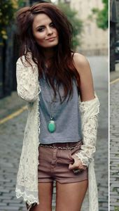 long lacey covers <3 love the hair colour too.