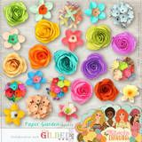 Digital paper flowers, Love some Kitschy Digitals! Handmade Flowers, Diy Flowers, Fabric Flowers, Paper Flowers, Origami Paper, Diy Paper, Paper Crafts, Crafts To Do, Crafts For Kids