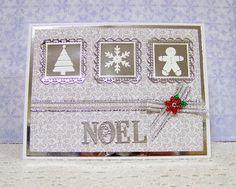 Ann Greenspan's Crafts: Square Vignette NOEL card