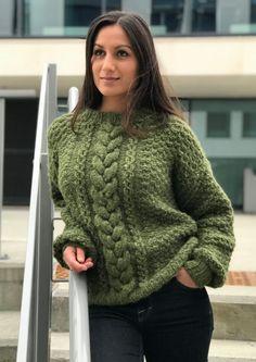 Janneckegenser Pullover, Cute Sweaters, Knit Crochet, Knitwear, Autumn Fashion, Crochet Patterns, Turtle Neck, Wool, Knitting