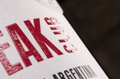 Beefsteak Club label detail - thanks Multilabels. Join the Club! #wine