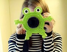 Frog Camera Buddy  Camera Lens Accessory  Lime by WyandotteWears, $12.00