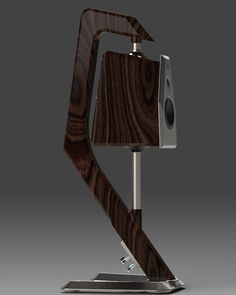 """AMULETT - loudspeaker made of solid walnut wood. Price per pair € A few years ago, CNET ran a story posing the question, """"How can receivers sound bette, Wooden Speakers, Diy Speakers, Bookshelf Speakers, Stereo Speakers, Wireless Speakers, Wooden Speaker Stands, Audiophile Speakers, Hifi Audio, Floor Standing Speakers"""