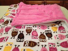 Baby Love Blanket  Robert kaufman Owls SOFT minky by NanaKidsDesigns, $35.00