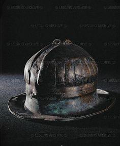 HALLSTATT CULTURE HELMET 5TH BCE Helmet, from grave 55 at Smarje, Slovenia. Height: 18 cm Naturhistorisches Museum, Vienna, Austria