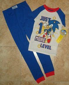 SONIC The Hedgehog Pajamas Boy's 8 NeW 2 piece Set Shirt Pants SNUG FIT Pjs Sets #KomarKids #PajamaSets