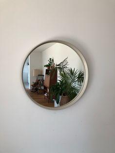 Good Mirror The 60er Rockabilly Pattern Rectangular Wood Wall Mirror Antiques