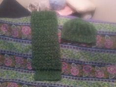 Green Crochet & Scarf