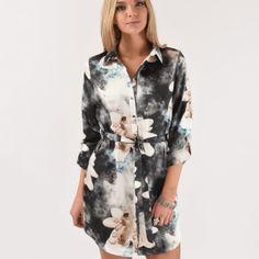 floral shirt dress - fashion - trendy - style - purple reign Floral Shirt Dress, Floral Print Shirt, Floral Prints, Skater Dress, Bodycon Dress, Purple Reign, Trendy Fashion, Trendy Style, Swing Dress