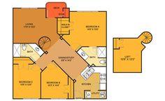 C4 floorplan at Villas on Guadalupe, Austin, TX