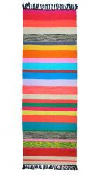Kilim Runner Rug Colored Stripes from Le Souk  (love the colors!!)
