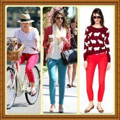 Vivid Block Coloured Pants by Jen's Fashion Book, via Flickr