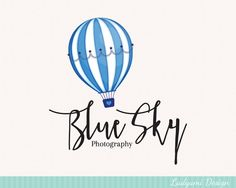 OOAK Logo Design Hot Air Baloon Logo One of a by LadyumiDesign