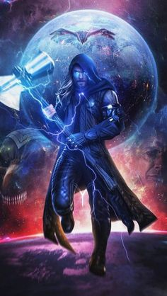 Thor Space Warrior iPhone Wallpaper