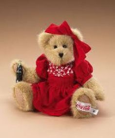 "Boyds Bears ""CHERYL"" 10"" Coca Cola®  Plush Bear-919942 - NWT- 2006-Retired"