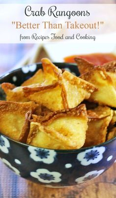 Rangoons Crab Rangoons - Creamy cream cheese full of real crab and fried in a won ton wrapper.Crab Rangoons - Creamy cream cheese full of real crab and fried in a won ton wrapper. Wonton Recipes, Crab Recipes, Appetizer Recipes, Snack Recipes, Cooking Recipes, Snacks, Recipies, Shellfish Recipes, Empanadas