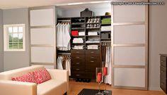 Modern reach-in closet from EasyClosets.com
