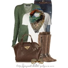 """""""Green and Brown"""" by jaycee0220 on Polyvore"""