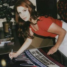 """Polaroid of Lana Del Rey at the """"Freak"""" music video premiere at the Wiltern in Los Angeles on February 9th, 2016"""