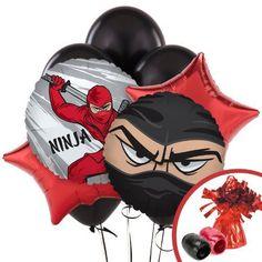 Ninja Warrior Party Supplies - Balloon Bouquet BirthdayEx